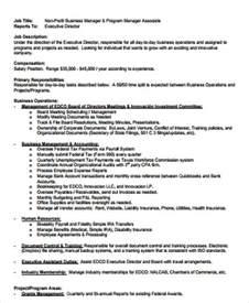 project director description resume cover letter