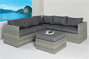 Rattan Sitzgruppe Garten : poly rattan sitzgruppe sofa lounge set grau gartenm bel ~ Lateststills.com Haus und Dekorationen