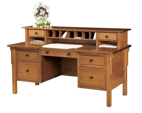 office desk with drawers amish computer file desk mission solid wood home office
