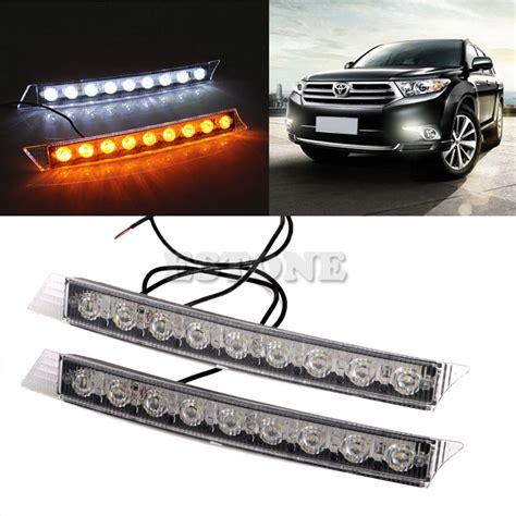 led light strips for cars exterior auto led lights 2x 9leds daylight daytime running driving