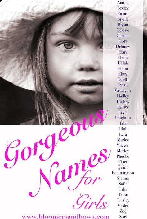 beautiful names  girls bloomers  bows
