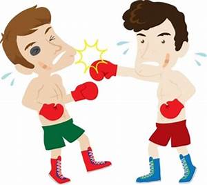 Boxing Clipart Image - Boxers Fighting in a Ring