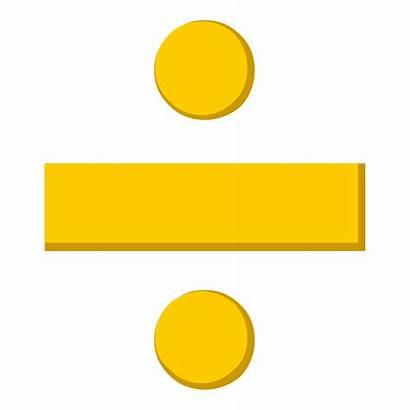 Division Math Clipart Symbol Symbols Signs Transparent