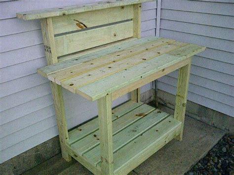 wooden bench  cooler plans potting bench kreg jig