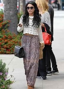 Skirt: maxi skirt, boho, vanessa hudgens, summer outfits ...