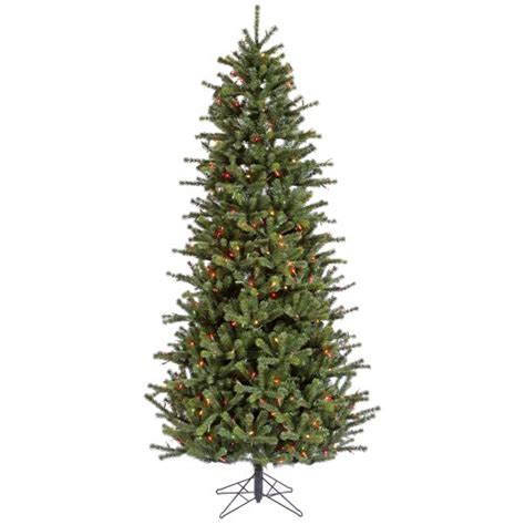 4 5 pre lit carver slim artificial christmas tree dura