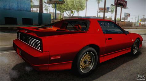 Pontiac Firebird Trans Am 1987 For Gta San Andreas