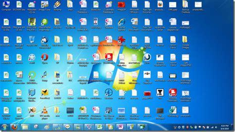 Change Windows 7 Desktop Icons Into Small Explorer List View