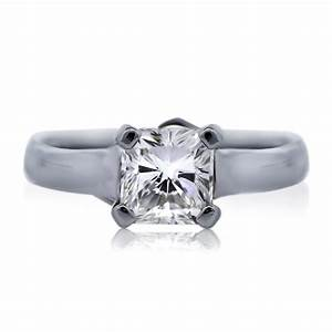 platinum gia 101ct square radiant cut diamond engagement ring With square cut diamond wedding rings