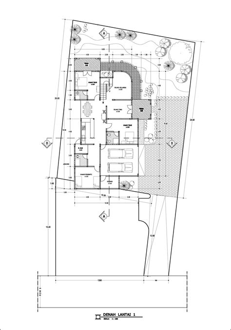 panduan bangunan rumah contoh desain rumah denah rumah