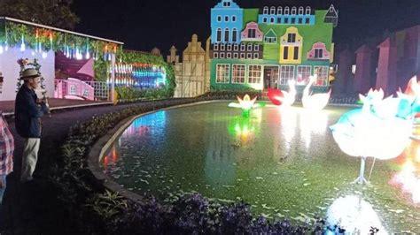 nikmati wisata gemerlap lampion  taman bunga celosia