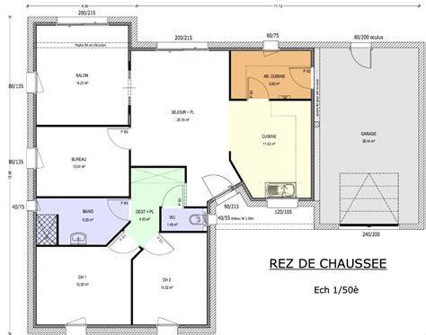 maison 2 chambres plan maison 90m2 plain pied with plan maison 90m2 plain pied