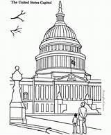 Capitol Building Coloring Landmarks Places Sheets Around Colouring Printable Drawing Adult Historic Patriotic Famous Sheet Buildings Coloringpagesfortoddlers Historical Singapore Printing sketch template