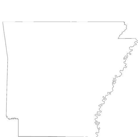 arkansas state outline map