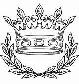Coloring Crown Queen King Pages Clip Intended Proper Useful sketch template