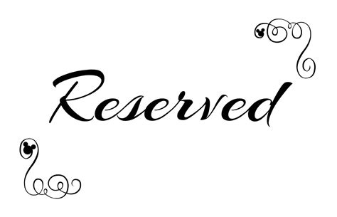 reserved sign free printable reserved seating signs for your wedding ceremony