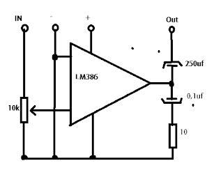 sirkitelektronika rangkaian mini lifier untuk komputer