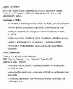 Administrative Assistant Resume Objective 6 Examples in