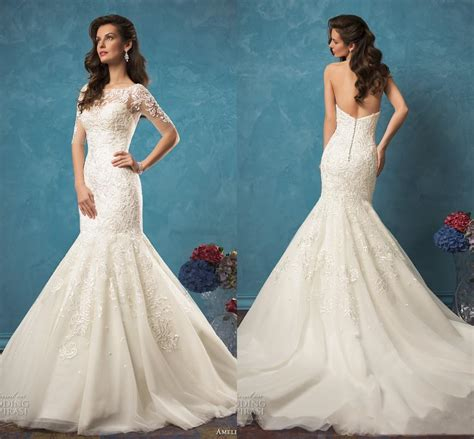 amelia sposa ivory lace mermaid wedding dresses