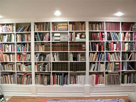 wall to wall bookcases gorgeous white wooden built in large bookshelf ideas for