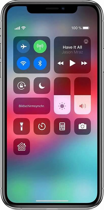 Iphone Kontrollzentrum Control Ipad Central Touch Controle