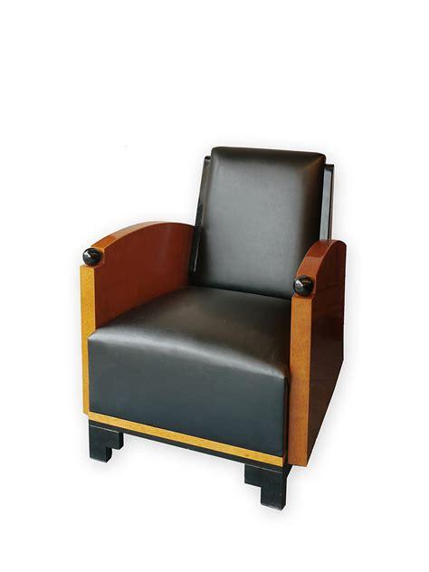 sessel deco sessel loungesessel clubsessel im deco stil mit schwarzem leder 3317 m 246 bel sitzm 246 bel sofas