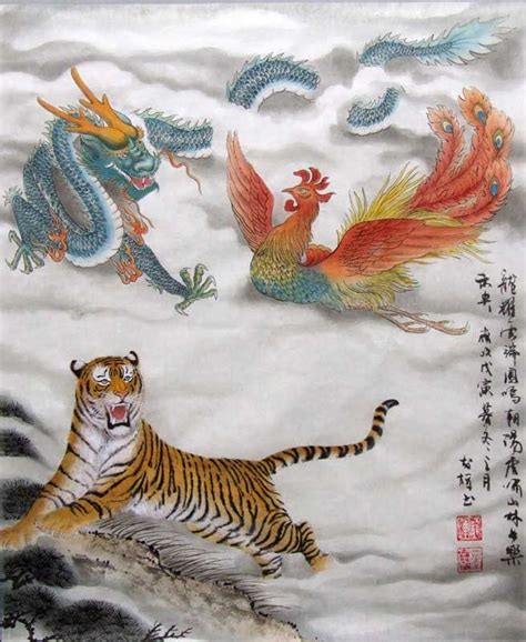 beautiful chinese dragon phoenix  tiger representation orient pinterest chinese