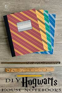 DIY Hogwarts Inspired House Notebooks; Harry Potter Craft