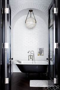 Black and white bathroom decor design ideas black and for Black and white bathrooms images