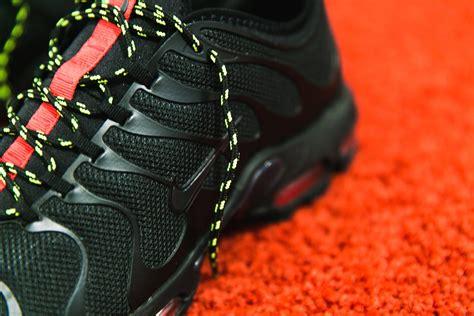 nike air max  tn ultra black red volt sneakerfitscom