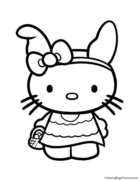 Hello Kitty Coloring Page 08 Coloring Page Central
