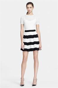 Black And White Striped Skirt - Oasis amor Fashion