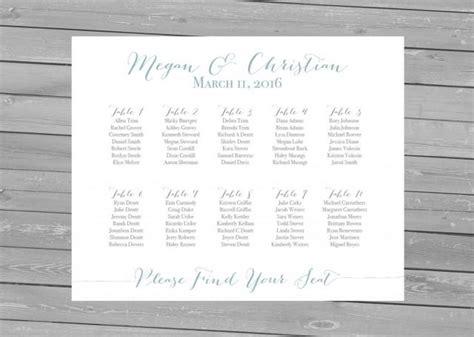 printable seating chart printable wedding seating chart