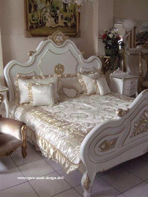 Barock Bett Antik Louis Shabby Weiß Doppelbett Vintage