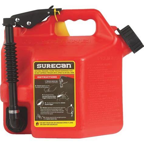 surecan  gallon red gas   gasoline surg