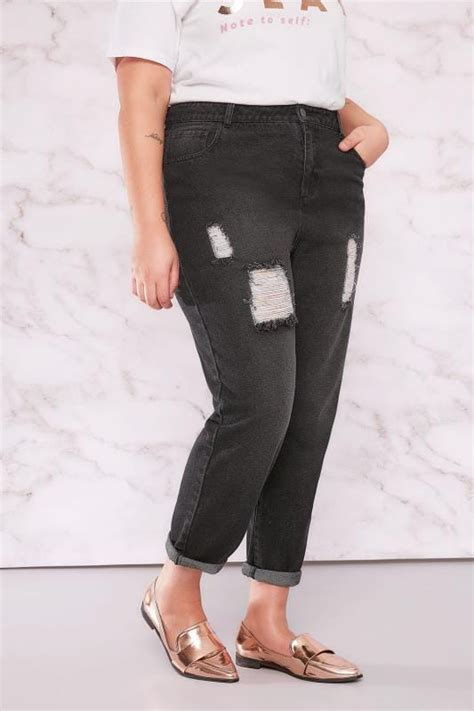 Limited Collection Khaki Distressed Skinny Jeans Plus Size 16 To 36 - limited collection black distressed mom jeans plus size 16 to 32