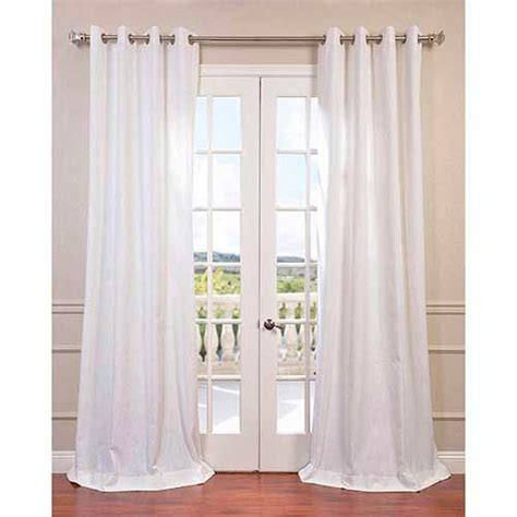 white 120 x 50 inch grommet curtain single panel half