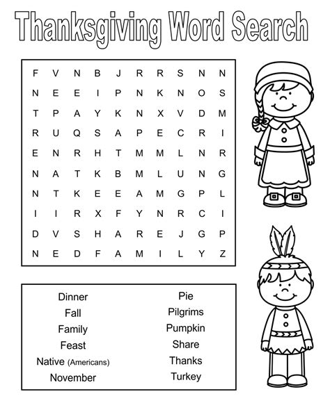 printable thanksgiving word search difficult