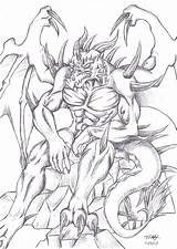 Demon Coloring Deviantart Nidhogg Drawings Dragon Evil Skulls Anthro Drawing Angel Grown Ups Dark Colouring Side 2005 Wings Cool Monster sketch template