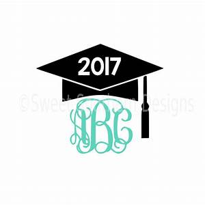 Monogram graduation cap tassel 2017 SVG instant download