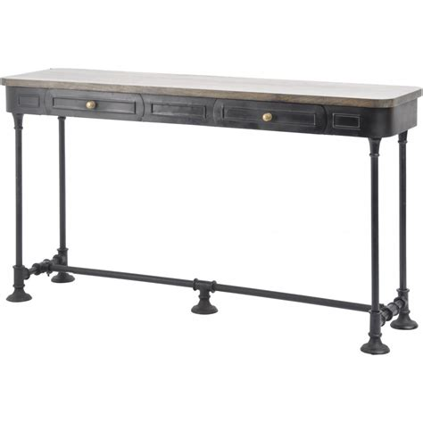 wood metal console table buy black metal console table with solid wood top from