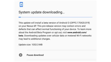 s android o os to allow users pause and resume