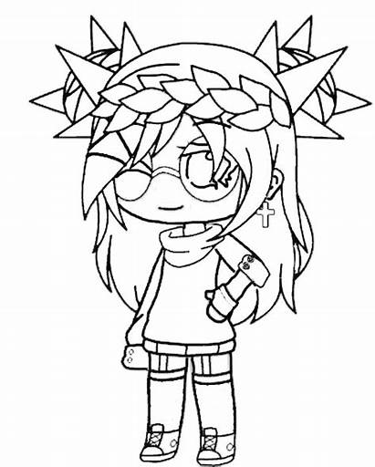 Gacha Coloring Pages Club Animationsa2z Popular