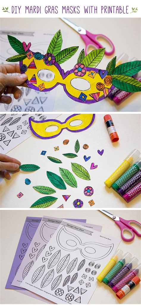 design your own mask mardi gras masks with printable mask template motor