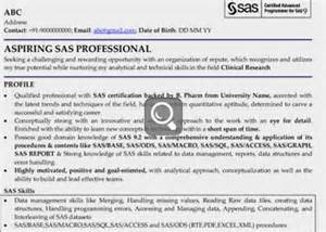 fresher sas programmer resume linked profile sles for professionals graduates freshers all profiles and professionals