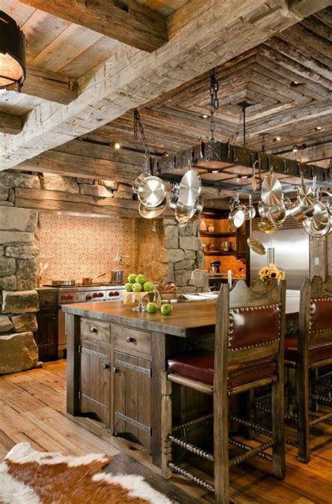 50 Modern Country House Kitchens  Kitchen Design, Rustic