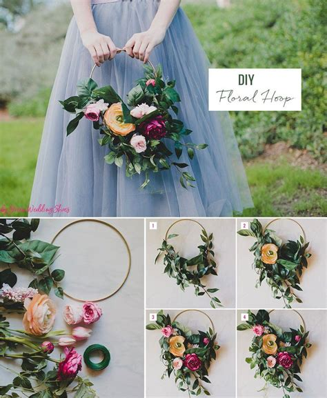 diy silk flower hoop bouquet craftiness