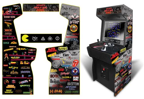 xtension arcade cabinet graphics 187 customer submitted custom permanent rock n roll