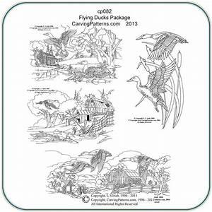 Flying, Ducks, Patterns, U2013, Classic, Carving, Patterns