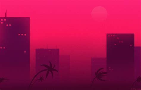 wallpaper  city palm trees hotline miami hotline